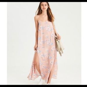 American Eagle outfitters double split maxi dress
